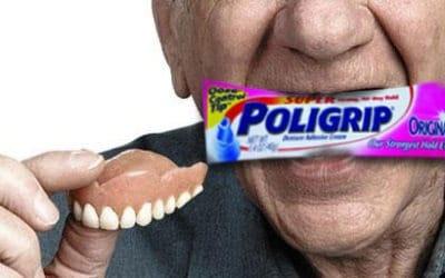 Adhésif pour prothèse dentaire.